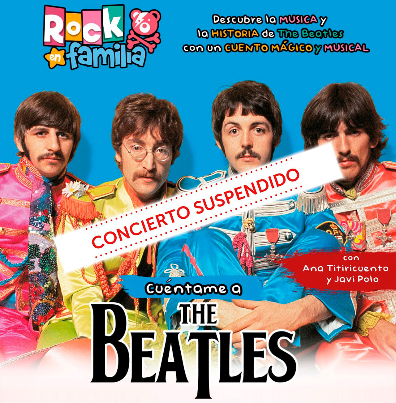 Suspendido el evento *Cuéntame a the Beatles*