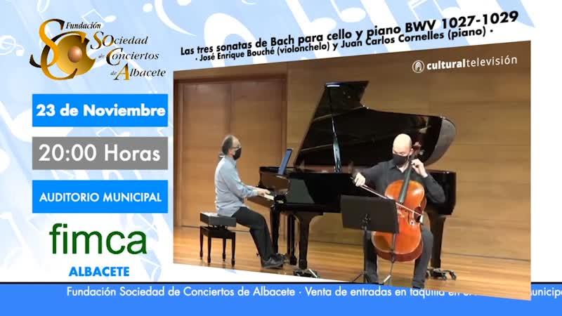 LAS TRES SONATAS DE BACH PARA CELLO Y PIANO BWV 1027-1029